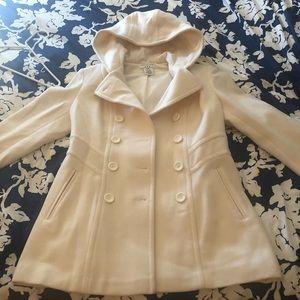 Ivory wool pea coat